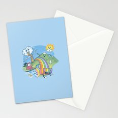Rainbow Pasta Stationery Cards