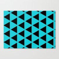 Sleyer Black On Blue Pat… Canvas Print