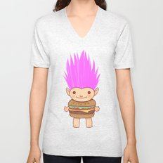 Hamburger Troll Unisex V-Neck