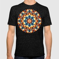 Colorful Concentric Motif Mens Fitted Tee Tri-Black SMALL