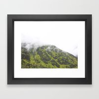 Mountains In The Fog Framed Art Print