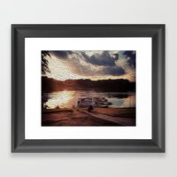 Oily Pontoons Framed Art Print
