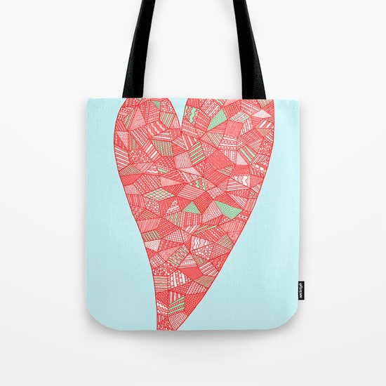 Puzzled Heart Tote Bag