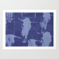 Southwest Cyanotype Art Print