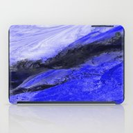 iPad Case featuring Blue And Black Abstract by Jen Warmuth Art And …