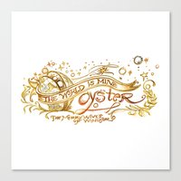 The World's Mine Oyster Canvas Print