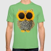Hoot! Day Owl! Mens Fitted Tee Grass SMALL