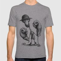 #17 Mens Fitted Tee Athletic Grey SMALL