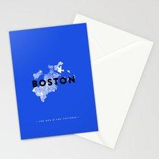 Boston Map Stationery Cards