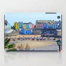 Tenby Harbour.Colour.Reflection. iPad Case
