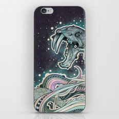 Saber-toothed Serpent in Space. iPhone & iPod Skin