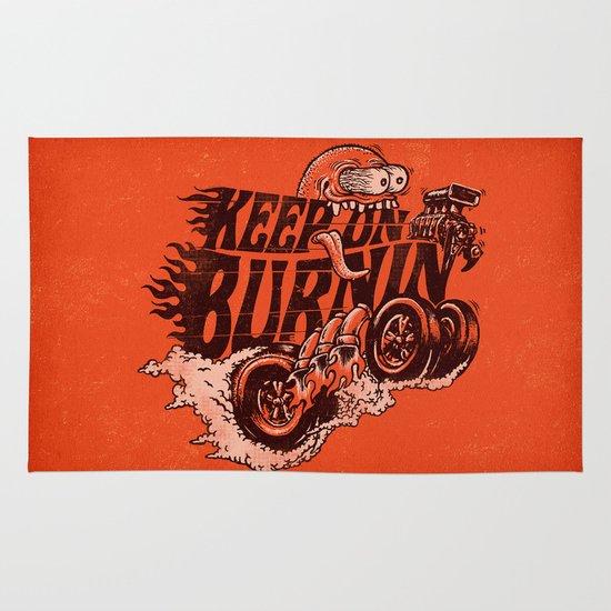 'KEEP ON BURNIN' Area & Throw Rug