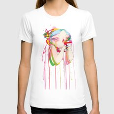 Byte Womens Fitted Tee White SMALL