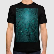 One by One, the Infinite Stars Blossomed SMALL Mens Fitted Tee Black