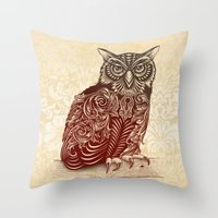 Most Ornate Owl Throw Pillow