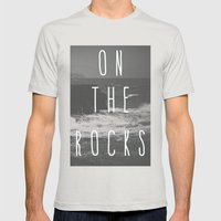 On The Rocks Mens Fitted Tee Silver SMALL