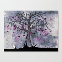 Heart & Star Tree Canvas Print