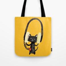 I Love Huge Headphone Tote Bag
