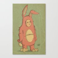 I Like My New Bunny Suit Canvas Print
