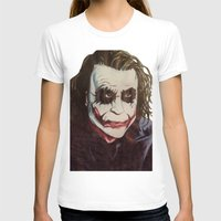joker T-shirts featuring joker by DeMoose_Art