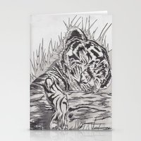 cute tiger Stationery Cards