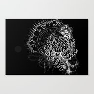 Cosmic Chrysanthemum Canvas Print