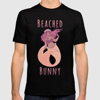 Beached Bunny Mens Fitted Tee Black SMALL