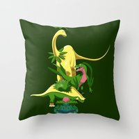 Grassiosaurs Throw Pillow