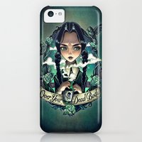 iPhone 5c Cases featuring OVER YOUR DEAD BODY by Tim Shumate