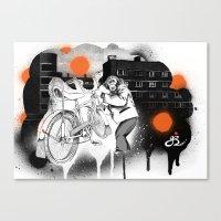Bo-bo Steals a Ride... Canvas Print
