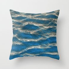 Aqua - blue abstract Throw Pillow