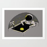 Space Bath Art Print
