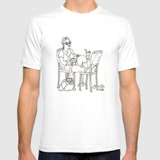 Sci Fi Afternoon SMALL White Mens Fitted Tee
