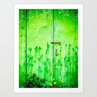 Weathered Iron Door Art Print