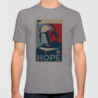 Boba Fett for president  Mens Fitted Tee Athletic Grey SMALL