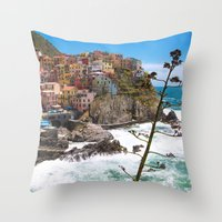 We're All Here Throw Pillow