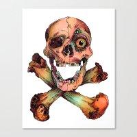 Skull in Color Canvas Print