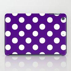 Polka Dots (White/Indigo) iPad Case