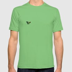 orange Mens Fitted Tee Grass SMALL