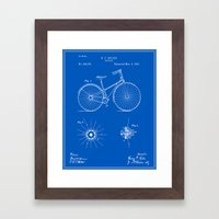 Bicycle Patent - Blueprint Framed Art Print
