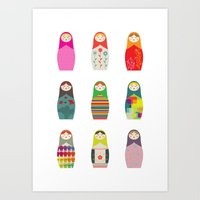 Russian Dollz Art Print