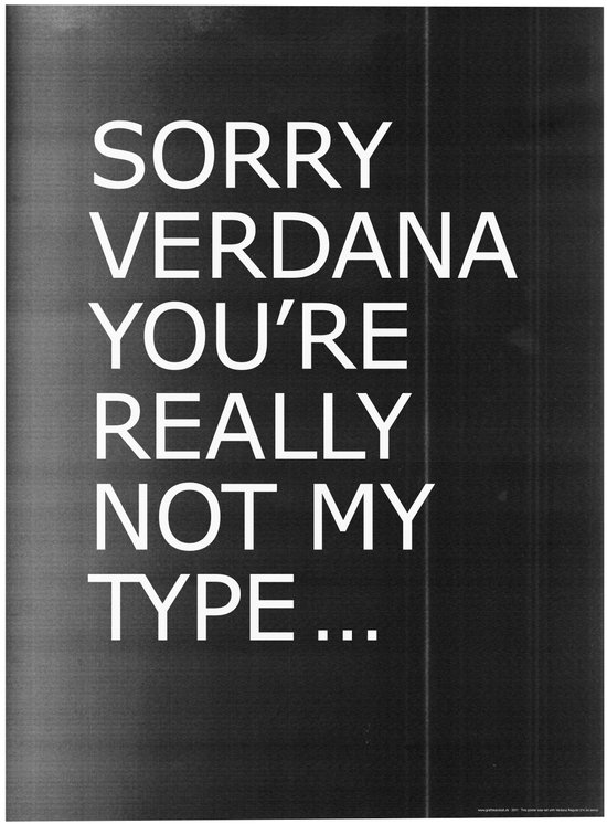 Sorry Verdana you're really not my type Canvas Print