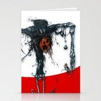 pumpkin man Stationery Cards