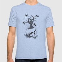 Skull And Tree Mens Fitted Tee Athletic Blue SMALL