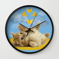 Kitty Wonder Wall Clock