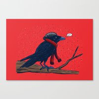 Annoyed IL Birds: The Crow Canvas Print