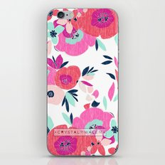 Janis Poppy Ikat Floral  iPhone & iPod Skin