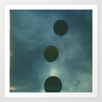 Dark Balloons Art Print