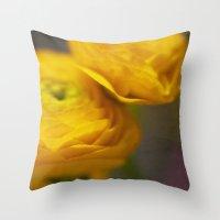 Soft Ranunculus Throw Pillow