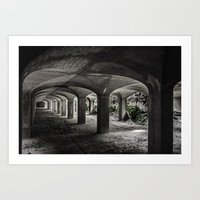 Filtration cells collapsing Art Print